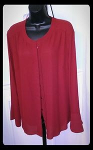 The Limited beautiful red button front red blouse.